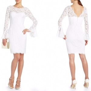 BCBG MAXAZRIA Salina White Lace Corset Dress 0 NWT